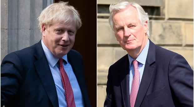 Both Boris Johnson and Michel Barnier said there is work to be done ( Aaron Chown/Nick Ansel/PA)