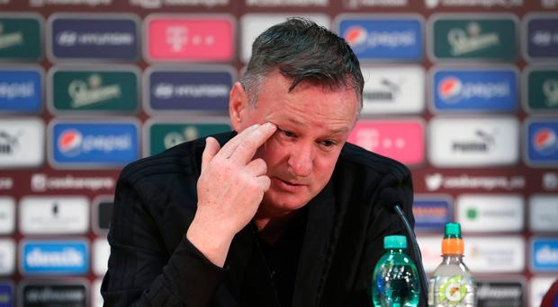 Poor form: Michael O'Neill slammed Netherlands counterpart Ronald Koeman over his comments on Northern Ireland's style of play