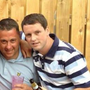 Christopher 'Sid' Stevenson (right) with and 'Hard to Kill' Aiken (light blue top and pink glass)