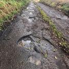 Pics of roads in Derrynoose, Co Armagh posted by SDLP councillor Thomas O'Hanlon.