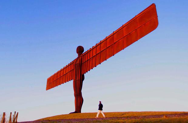 The Angel of the North in Newcastle with sculptor Antony Gormley