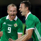 Czech mate: Jonny Evans (right) celebrates after scoring against the Czech Republic last night