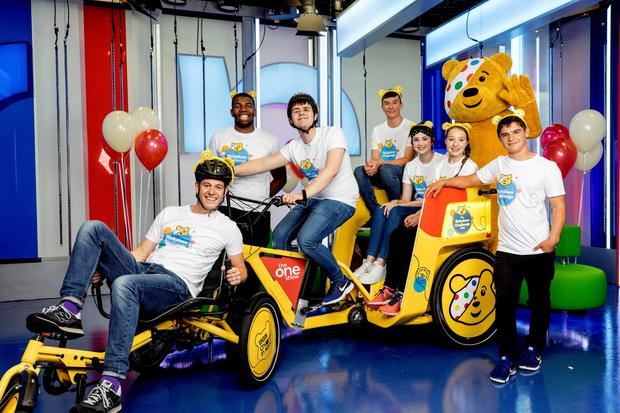 Adelle with the Rickshaw Team on the One Show.