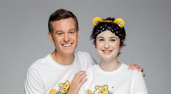 Adelle with One Show presenter Matt Baker.