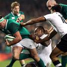 Rob Herring, seen here with the ball against Fiji, has joined the Irish World Cup squad (Brian Lawless/PA)