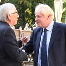 File picture of Prime Minister Boris Johnson and Jean-Claude Juncker (Stefan Rousseau/PA)