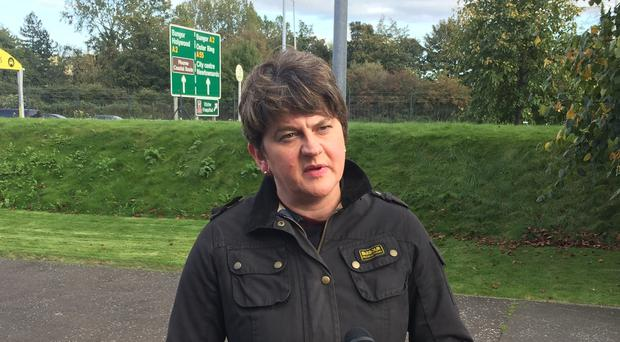 The DUP, led by Arlene Foster, said it does not support the new Brexit deal (PA)