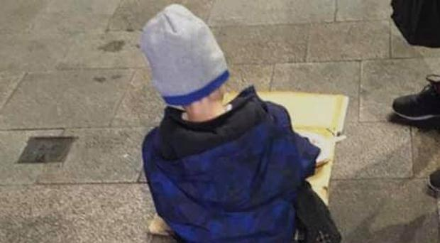The photo of five-year-old 'Sam' taken by the Homeless Street Cafe