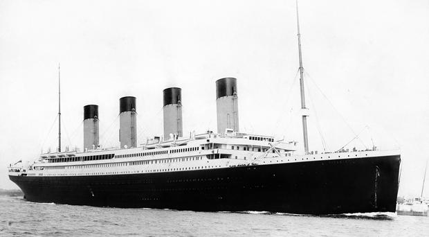 RMS Titanic which was built at the Harland and Wolff shipyard in Belfast (PA)