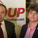 DUP leader Arlene Foster and deputy leader Nigel Dodds speaking on Thursday. Credit: BBC