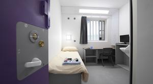 One of the cells in the new £54m accommodation block at Maghaberry Prison