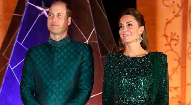 Regal style: Prince William and Kate during their visit to Pakistan