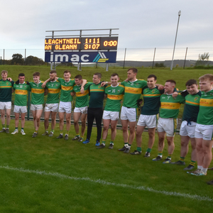 History boys: the Glen squad ahead of their first ever appearance in the Derry SFC final