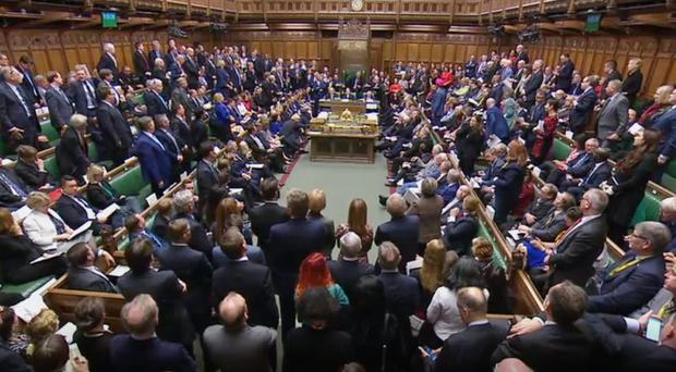 Prime Minister Boris Johnson delivers a statement in the House of Commons (House of Commons/PA)