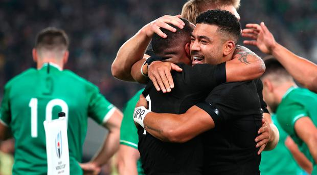 Aaron Smith scored two early tries to set New Zealand on their way in Tokyo.