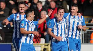 Ben Doherty netted twice from the spot as Coleraine beat Crusaders to go top of the table.