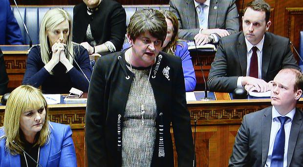 DUP Leader Arlene Foster pictured at Stormont. Credit Stephen Hamilton /Presseye