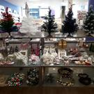 Christmas decorations for sale in Paperchase