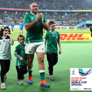 Rory Best leaves the pitch after Ireland's defeat to New Zealand.