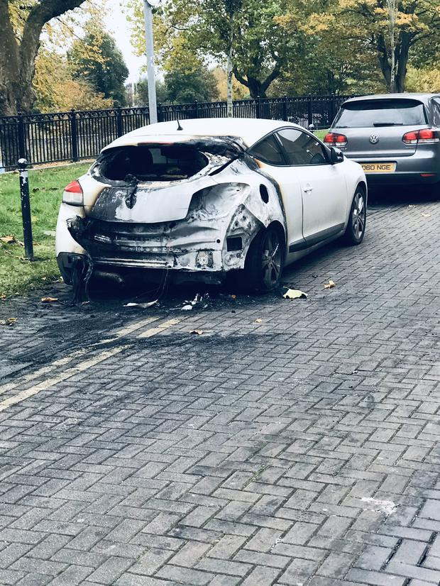 Three cars have been burnt out over night in the Fitzroy Avenue in the Holyland.