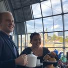 Etiquette expert William Hanson joined TV star Scarlett Moffatt at The Sage, Gateshead (Tom Wilkinson/PA)