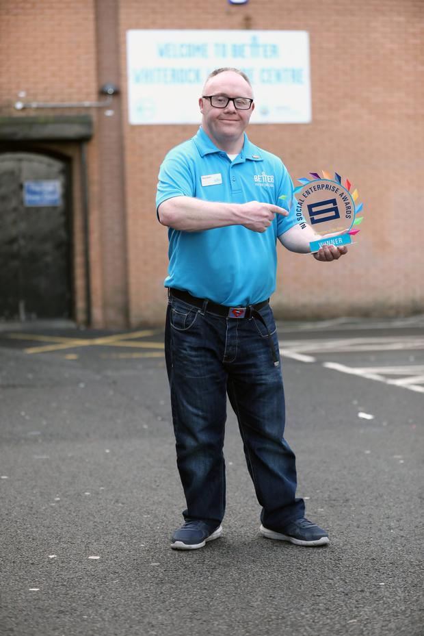 Boxing fan Tony Quinn is proud to be named Social Enterprise Volunteer of the Year