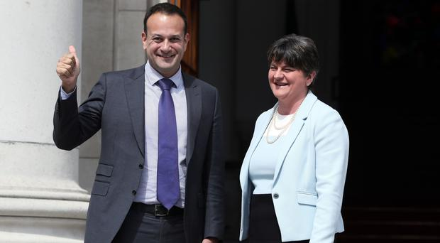 Arlene Foster suggested Leo Varadkar's words had been a contributory factor (Brian Lawless/PA)