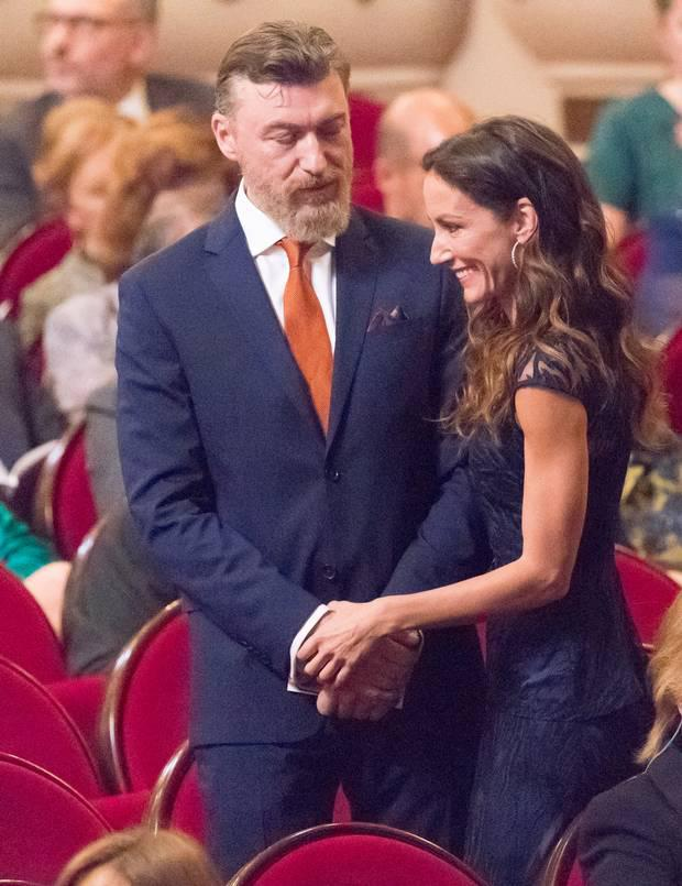 Telma Ortiz and Gavin Bonnar during the Princesa de Asturias Awards 2019 ceremony at the Campoamor Theater on October 18, 2019 in Oviedo, Spain. (Photo by Europa Press Entertainment/Europa Press via Getty Images)