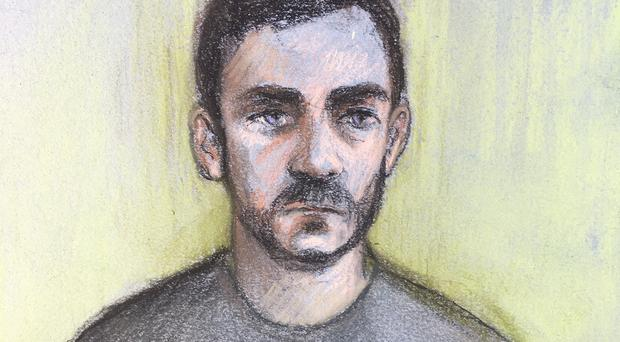 Lorry driver Maurice Robinson, 25, on a video link at Chelmsford Magistrates' Court (Elizabeth Cook/PA)