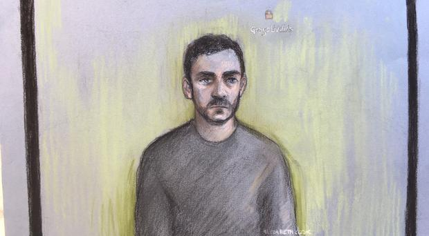 Court artist sketch of accused lorry driver Maurice Robinson (Elizabeth Cook/PA)