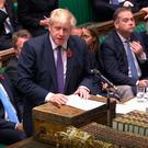Prime Minister Boris Johnson speaks during the election debate ahead of the vote in the House of Commons, London. House of Commons/PA Wire