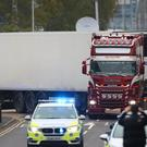 39 people were found dead inside the lorry at Waterglade Industrial Park in Grays, Essex (Aaron Chown/PA)