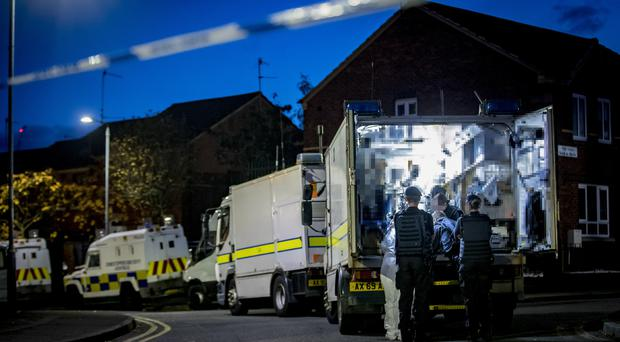 Police and ATO at the scene of a security operation inside a property in Lower Regent Street on October 29th 2019 (Photo by Kevin Scott for Belfast Telegraph)