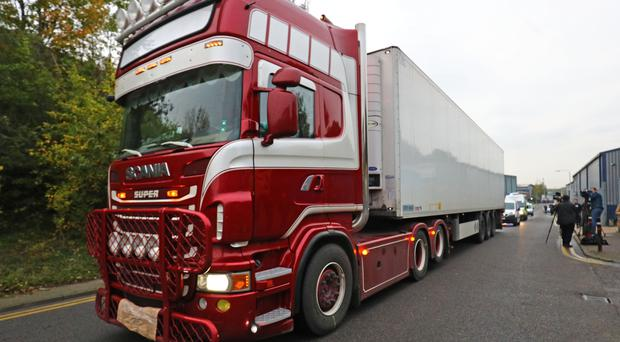The bodies were found in a container lorry in Essex (PA)