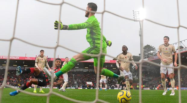 Joshua King strikes the only goal of the game as Bournemouth see off Manchester United.