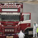 Police and forensic officers activity at the Waterglade Industrial Park in Grays, Essex, after 39 bodies were found inside a lorry on the industrial estate (Stefan Rousseau/PA)