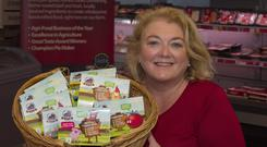 Lorna Robinson with some of her products