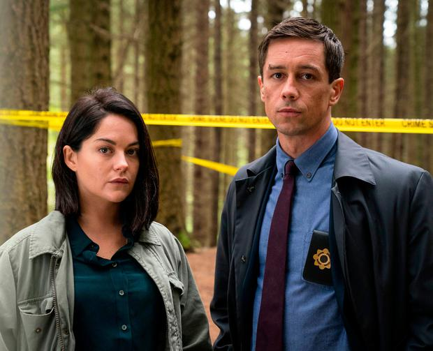 Killian Scott and Sarah Green play two police officers in Dublin Murders