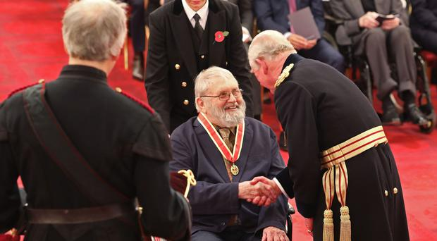 Professor Sir Robert Cohan is made a Knight Bachelor of the British Empire by the Prince of Wales (Yui Mok/PA)
