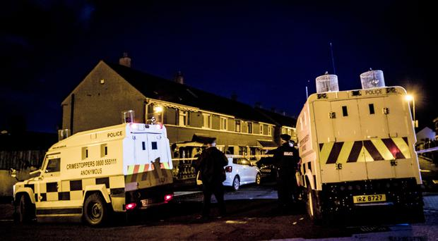 Police at the scene of a security alert in the Norglen Parade on November 7th 2019 (Photo by Kevin Scott for Belfast Telegraph)
