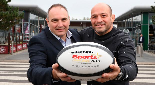 Best of the year: Former Ireland and Ulster captain Rory Best joins Chris Nelmes from sponsors The Boulevard to set the ball rolling on the 2019 Belfast Telegraph Awards