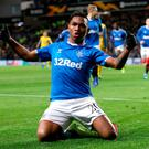 Top stuff: Alfredo Morelos hails his opener