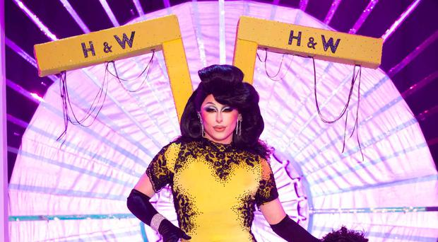 Belfast drag queen Blu Hydrangea has revealed how the iconic Harland and Wolff outfit worn in the debut episode of Drag Race UK was created