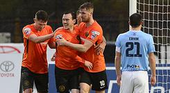 Carrick Rangers' Lee Chapman scored his side's second at the Showgrounds. Picture By: Arthur Allison/ Pacemaker.