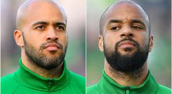 Mick McCarthy will take no risks with key pair Darren Randolph (left) and David McGoldrick (right) ahead of the Euro 2020 qualifier against Denmark (Simon Galloway/PA)