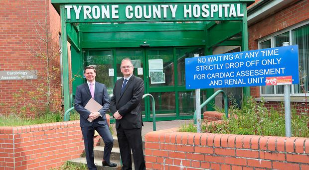 Andrew Gawley, Director at Lisney (left), with Irwin Potts, Assistant Director of Strategic Capital Development, Western Health & Social Care Trust