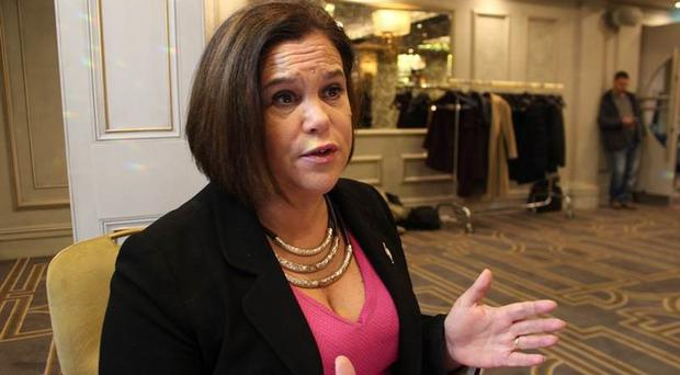 Mary Lou McDonald speaking to the PA news agency (Sinn Fein/PA)