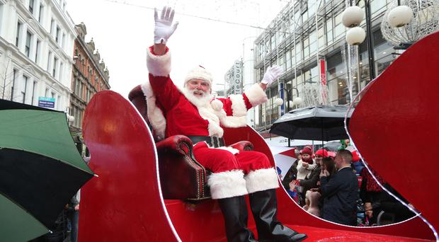 Santa Claus will arrive in Belfast this weekend.