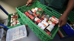 The Trussell Trust, which operates a network of food banks, has revealed that during the six months to September this year, it distributed 17,571 three-day emergency food parcels in Northern Ireland (Jonathan Brady/PA)