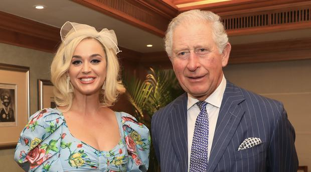 Katy Perry and the Prince of Wales rubbed shoulders in India (British Asian Trust/PA)